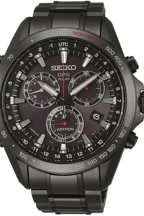 Mens Seiko Astron GPS Chronograph Solar Powered Watch SSE031J1