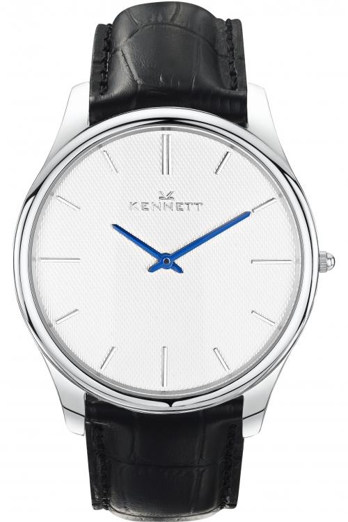 Mens Kennett Kensington Silver White Black Watch KSILWHBK