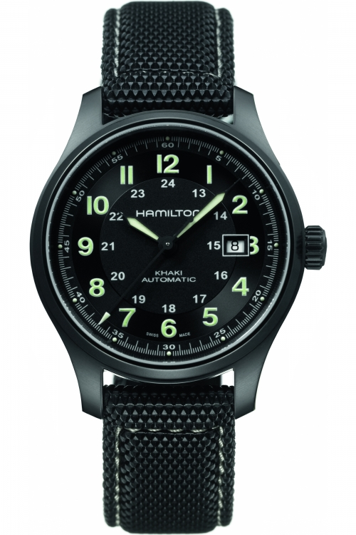Mens Hamilton Khaki Field Titanium Automatic Watch H70575733