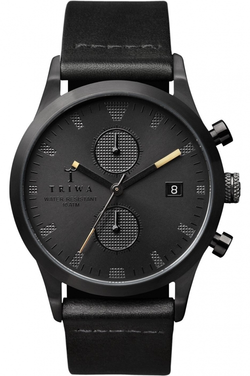 Mens Triwa Sort of Black Chrono Chronograph Watch LCST105CL010113