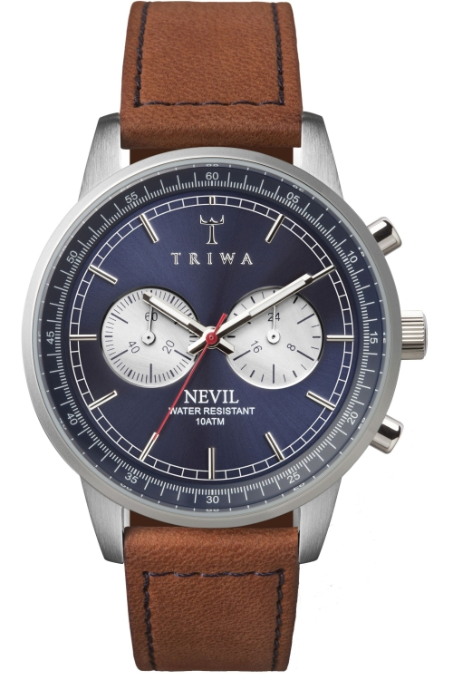 Mens Triwa Blue Steel Nevil Chronograph Watch NEST108SC010216
