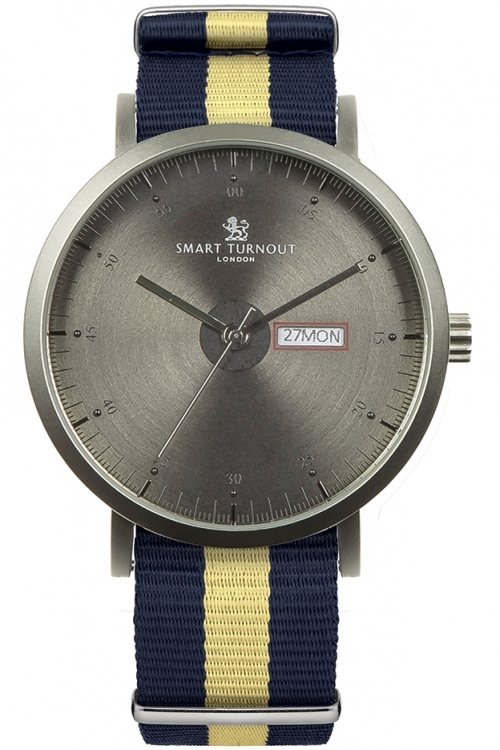 Mens Smart Turnout City Watch - Charcoal Grey Princess Of Wales's Regiment Watch STG1/CH/56/W-WA