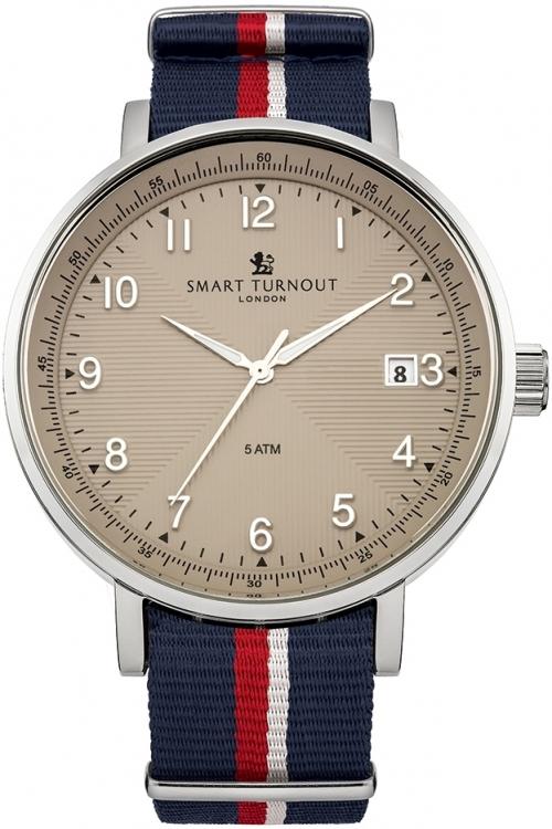 Mens Smart Turnout Scholar Watch Beige Royal Navy Watch STH3/BE/56/W-RN
