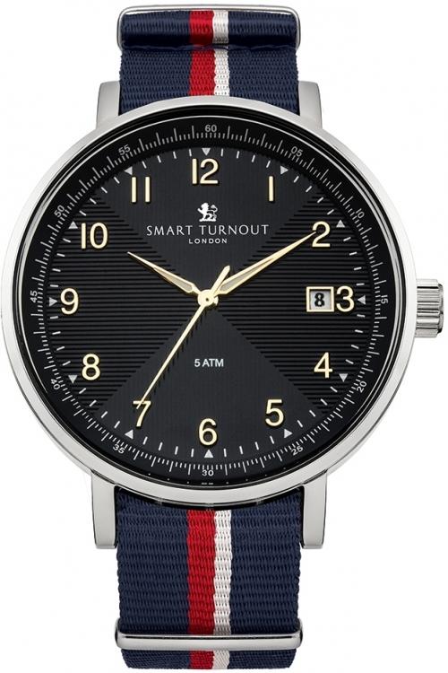 Mens Smart Turnout Scholar Watch Black Royal Navy Watch STH3/BK/56/W-RN