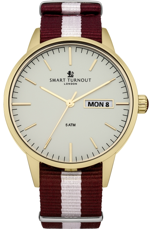 Mens Smart Turnout British Watch White Harvard University Watch STH4/WH/56/W-HARV