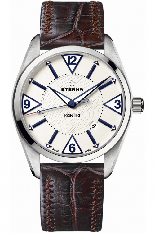 Mens Eterna KonTiki Date Automatic Watch 1220.41.63.1183