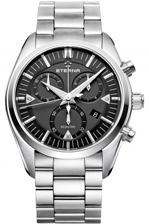 Mens Eterna KonTiki Chronograph Watch 1250.41.41.0217