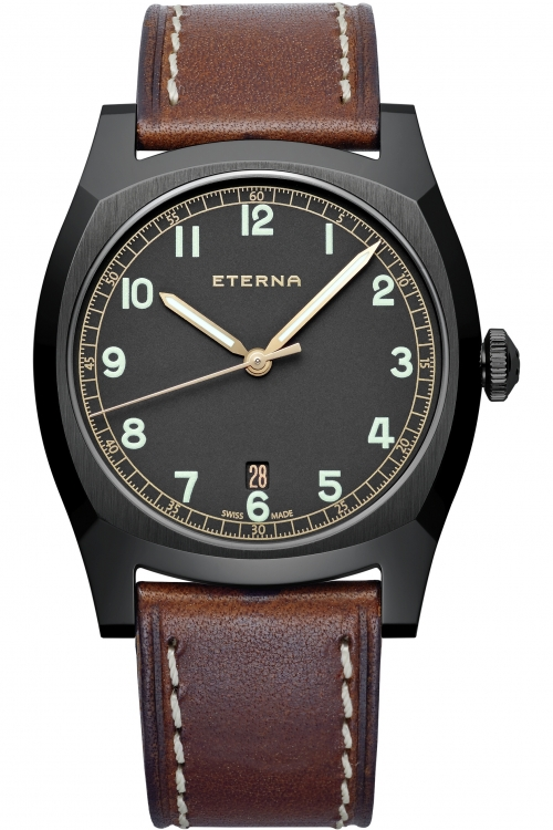 Mens Eterna Heritage Military Automatic Watch 1939.43.46.1299