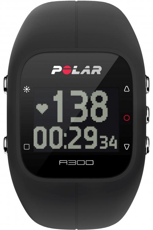 Mens Polar A300 Bluetooth Activity Tracker Heart Rate Bundle Black Chronograph Watch 90051953
