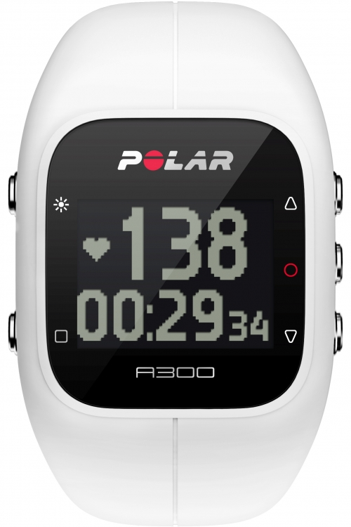 Unisex Polar A300 Bluetooth Activity Tracker Heart Rate Bundle White Chronograph Watch 90054235