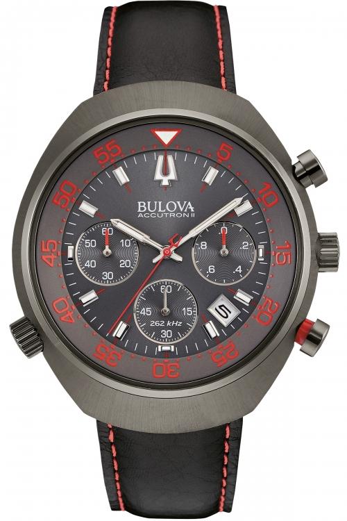 Mens Bulova Accutron II Snorkel UHF Chronograph Watch 98B252