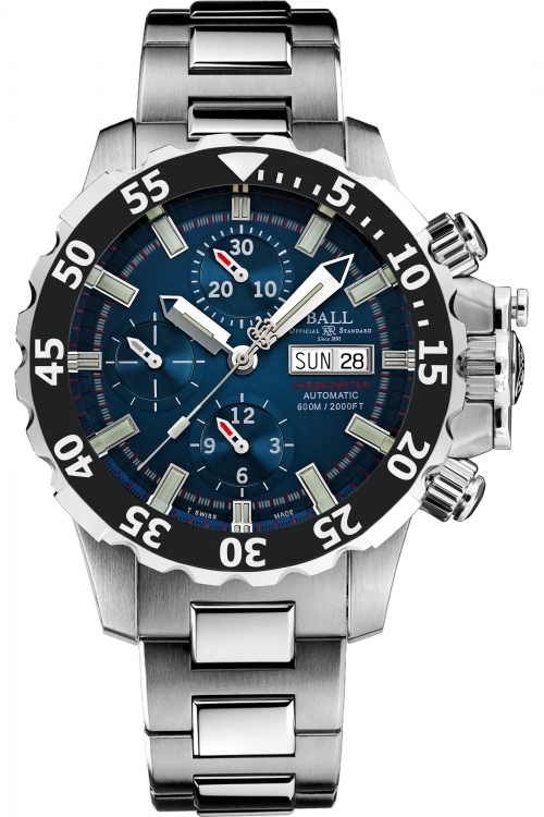Mens Ball Engineer Hydrocarbon NEDU Chronometer Titanium Automatic Chronograph Watch DC3026A-SC-BE
