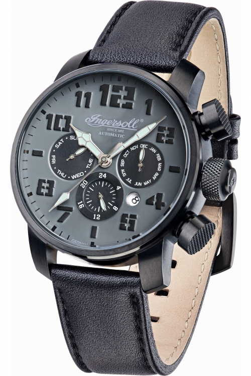 Mens Ingersoll Automatic Automatic Chronograph Watch IN1224BKGY