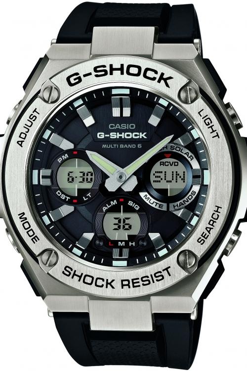 Mens Casio G-Steel Alarm Chronograph Watch GST-W110-1AER
