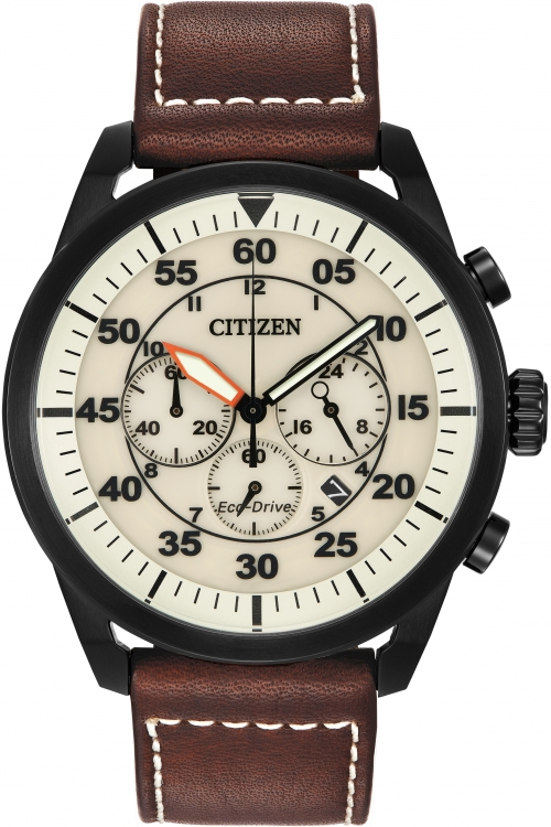 Mens Citizen Avion Chronograph Eco-Drive Watch CA4215-04W