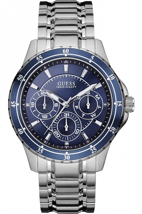 Mens Guess Longtitude Chronograph Watch W0670G2
