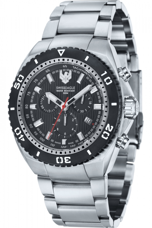 Mens Swiss Eagle Carrier Chronograph Watch SE-9072-11
