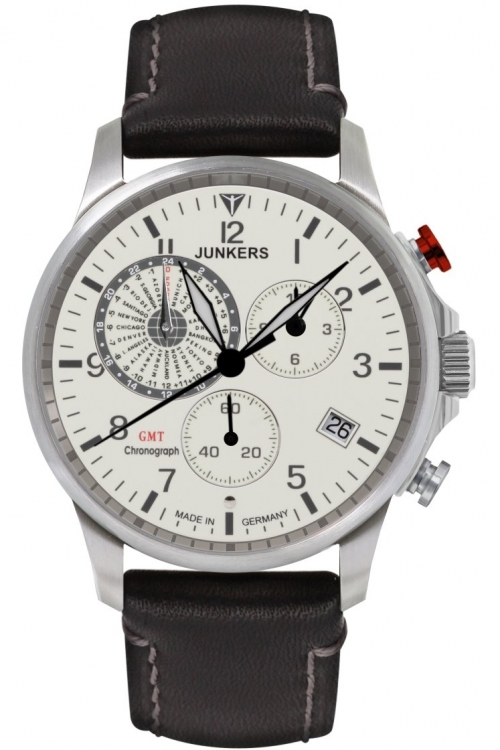 Mens Junkers Worldtimer Chronograph Watch 6892-5