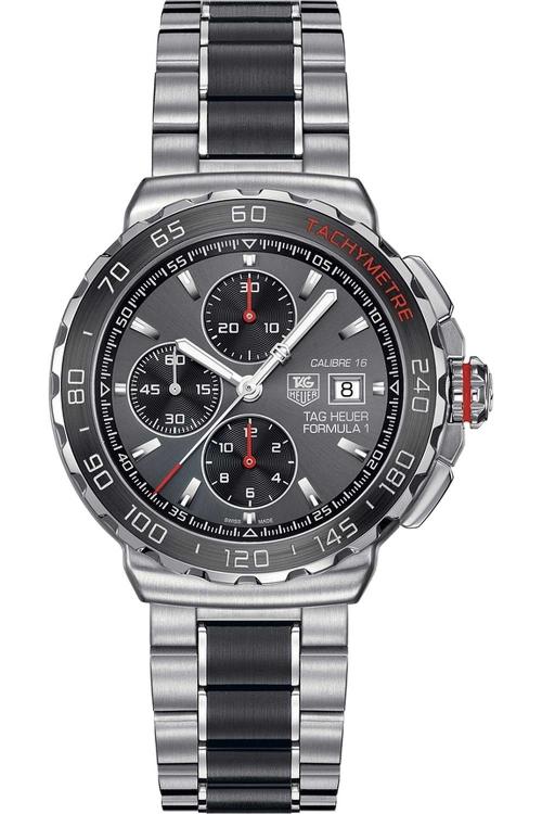 Mens TAG Heuer Formula 1 Calibre 16 Automatic Chronograph Ceramic Watch CAU2011.BA0873