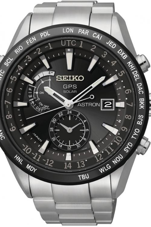 Mens Seiko Astron Solar Powered Watch SAST021G
