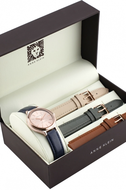 Ladies Anne Klein Strap Gift Set Watch