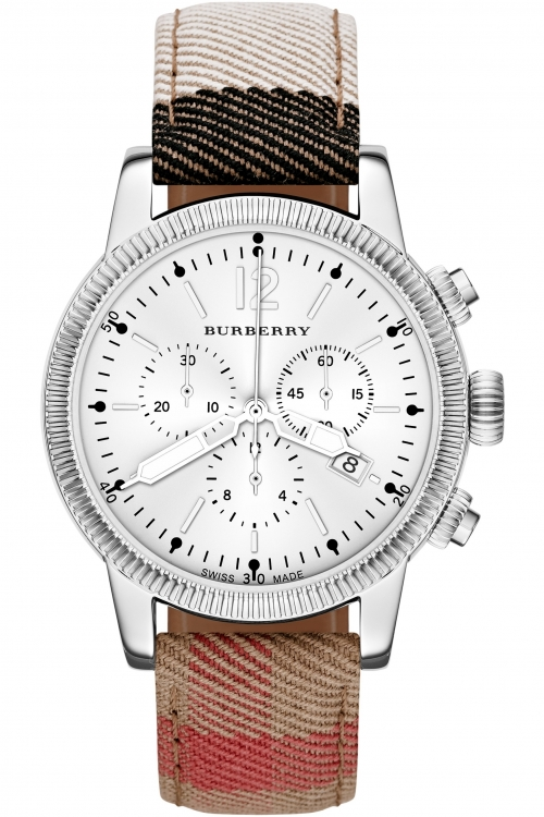 Mens Burberry The Utilitarian House Check Chronograph Watch BU7820