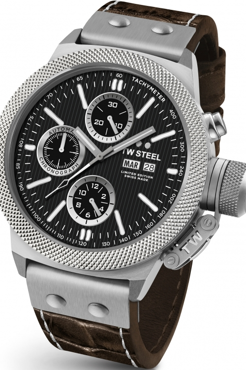 Mens TW Steel 10th Anniversary Canteen Limited Edition Automatic Chronograph 45mm Watch TWAC10