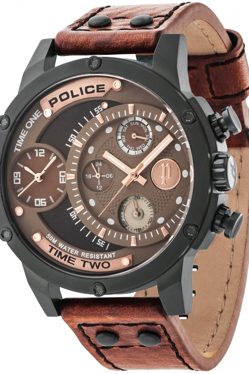 Mens Police ADDER Chronograph Watch 14536JSB/12A