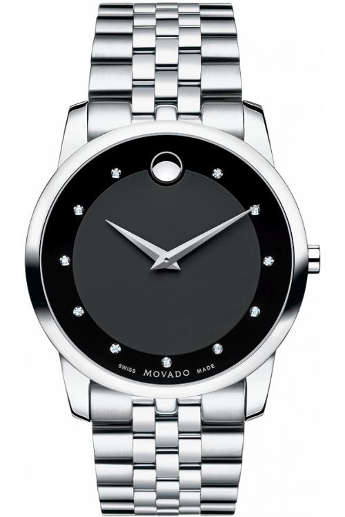 Mens Movado Museum Diamond Watch 606878