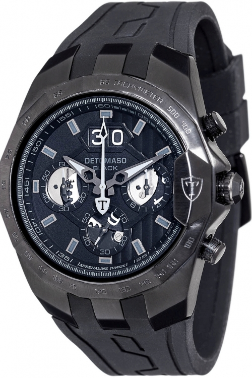 Mens Detomaso Marks a Man - Adrenaline Junkie Black Edition Chronograph Watch DT-YG103-E