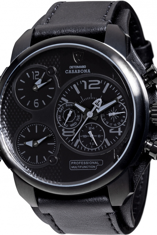 Mens Detomaso Casabona Multifunction Black Edition Watch DT2018-E