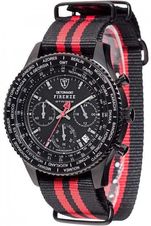 Mens Detomaso Firenze Stripes Chronograph Watch DT1070-C