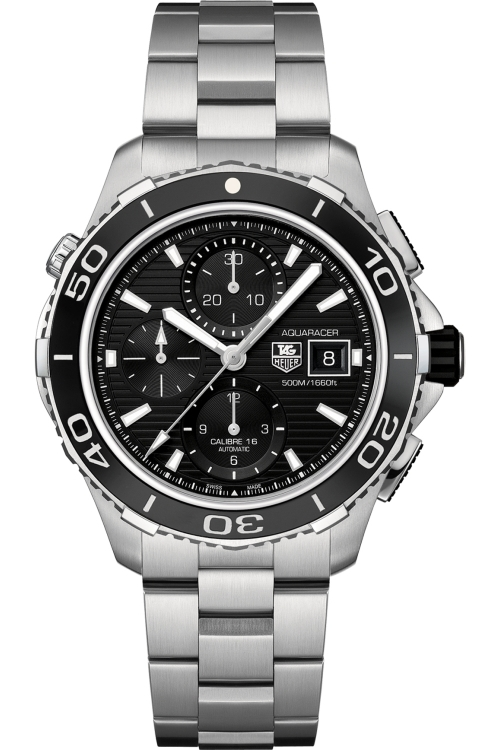 Mens TAG Heuer Aquaracer Calibre 16 Automatic Chronograph Watch CAK2110.BA0833