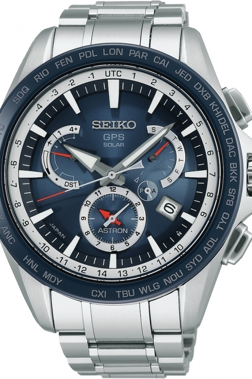 Mens Seiko Astron GPS World Time Radio Controlled Solar Powered Watch SSE053J1