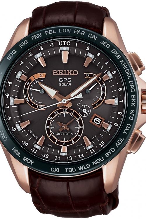 Mens Seiko Astron GPS Chronograph Watch SSE060J1