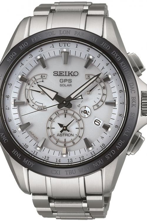 Mens Seiko Astron GPS Titanium Chronograph Watch SSE047J1