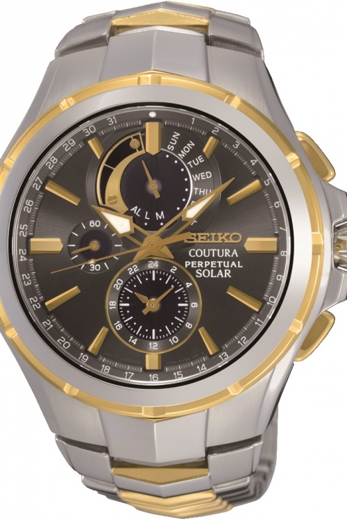 Mens Seiko Coutura Perpetual Solar Powered Watch SSC376P9