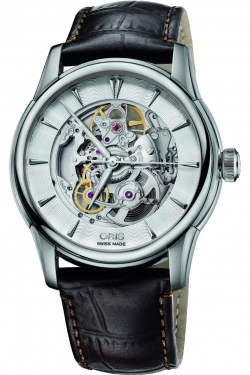 Mens Oris Artelier Skeleton Automatic Watch 0173476704051-0752170FC