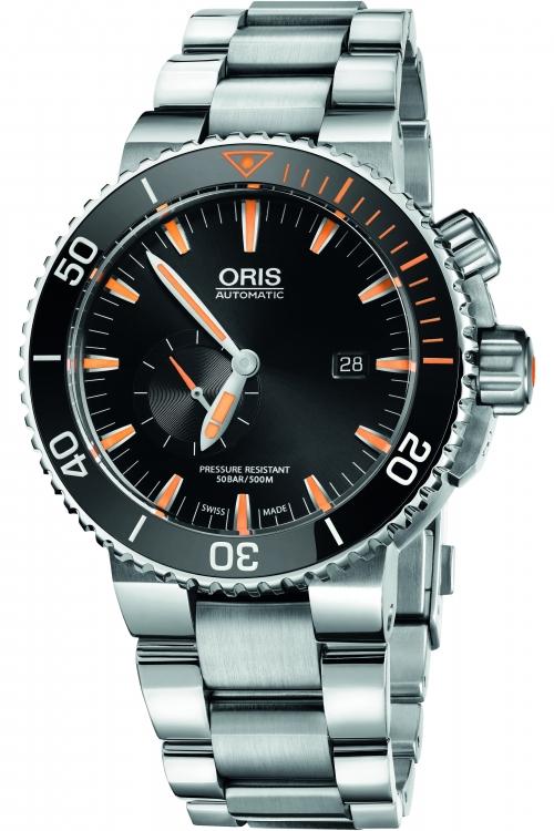 Mens Oris Aquis Carlos Coste Limited Edition IV Titanium Automatic Watch 0174377097184-SET