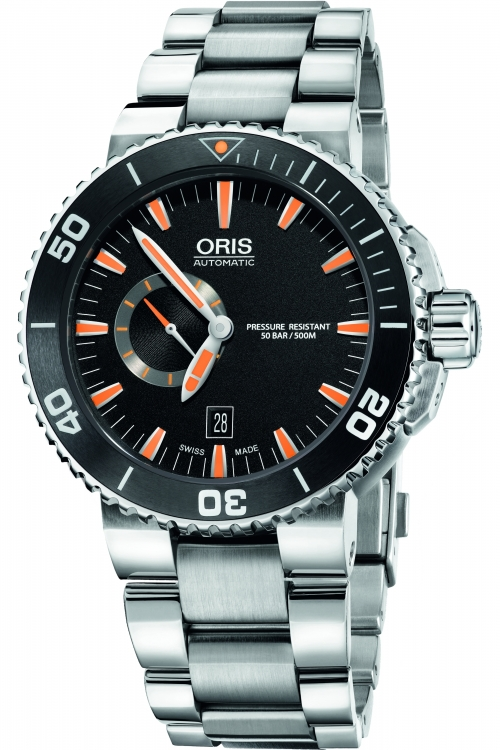 Mens Oris Aquis Small Second Date Automatic Watch 0174376734159-0782601PEB