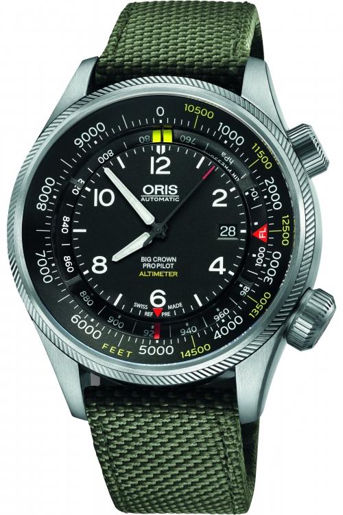 Mens Oris Big Crown ProPilot Altimeter Automatic Watch 0173377054134-SET52314FC