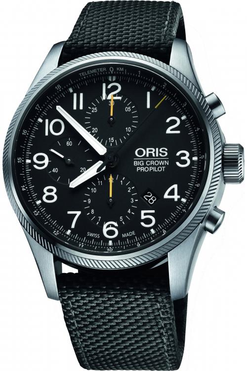 Mens Oris Big Crown ProPilot Automatic Chronograph Watch 0177476994134-0752215FC