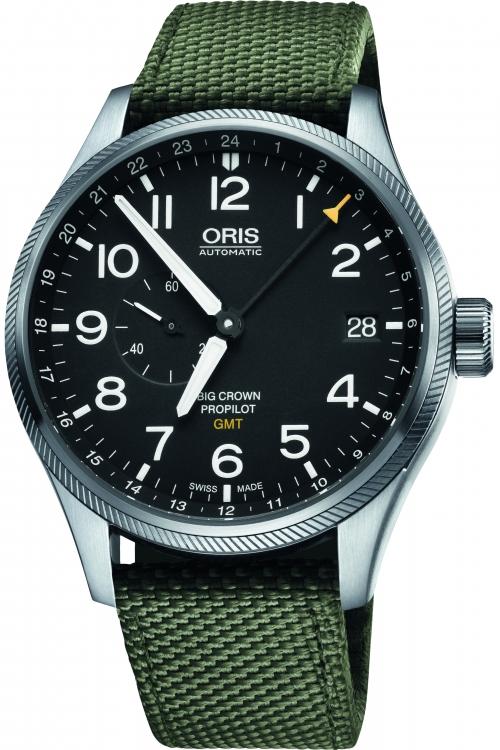 Mens Oris Big Crown ProPilot GMT Automatic Watch 0174877104164-0752214FC