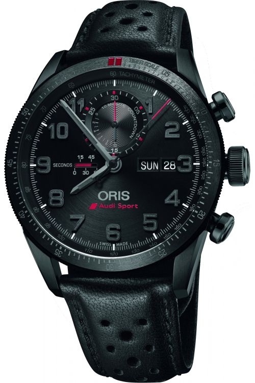 Mens Oris Audi Sport Limited Edition II Automatic Chronograph Watch 0177876617784-SETLS