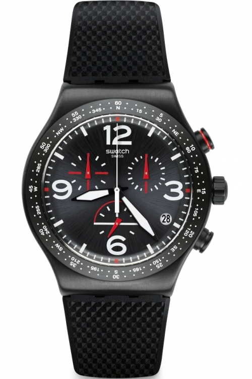 Mens Swatch Black Is Back Chronograph Watch YVB403