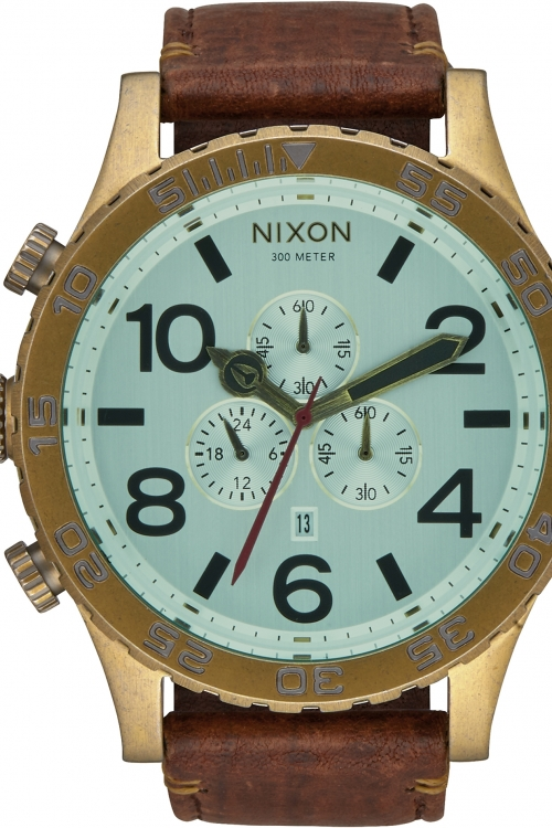 Mens Nixon THE-51-30 CHRONO LEATHER Chronograph Watch A124-2223