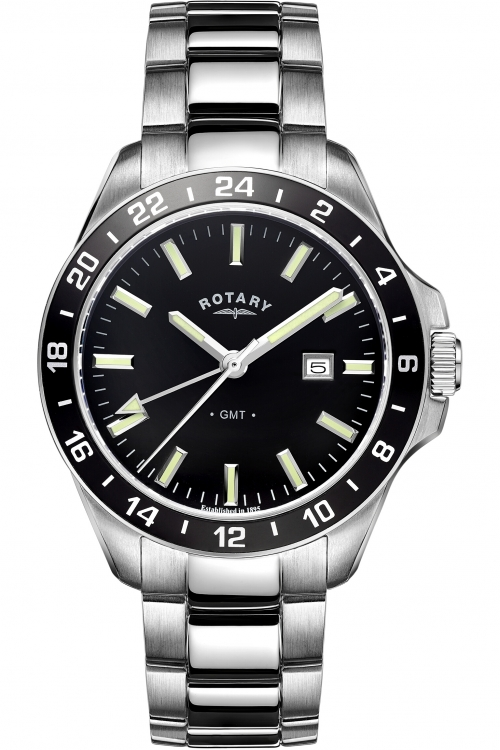 Mens Rotary GMT Watch GB05017/04
