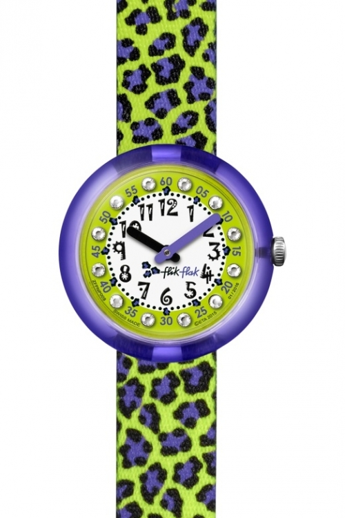 Childrens Flik Flak Green Jubatus Watch FPNP009