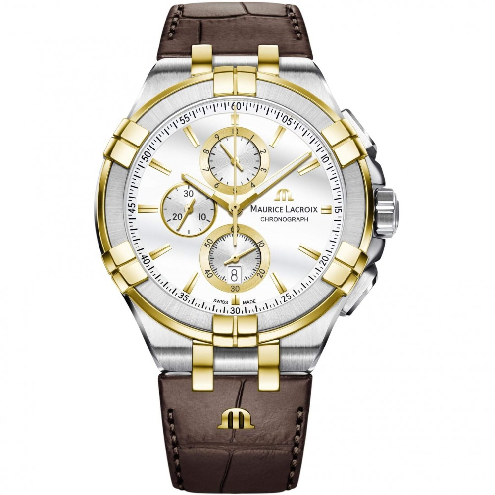 Mens Maurice Lacroix Aikon Chronograph Watch AI1018-PVY11-132-1