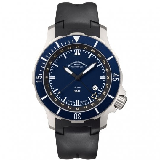 Mens Mühle Glashutte Seebataillon GMT Automatic Watch M1-28-62-KB
